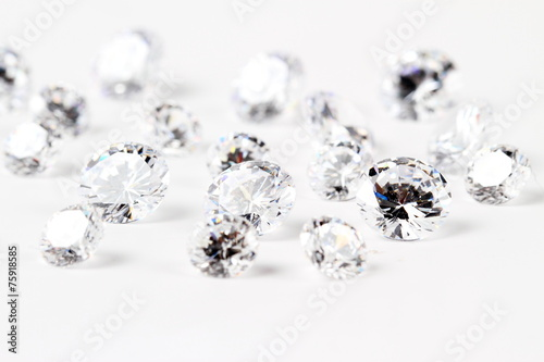 Leinwandbild Motiv 輝くダイヤモンド