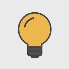 Lightbulb Ideas Creativity Development Icon Symbol Vector