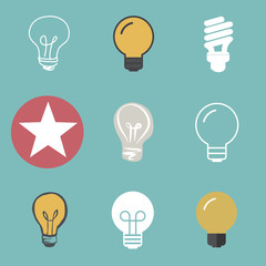 Lightbulb Ideas Creativity Development Icon Symbol Vector Concep
