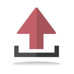 Upload Uploading Sharing Online Internet Icon Vector Concept