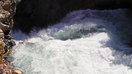 Water flow. Tajikistan. Iskanderdarya