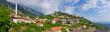 Leinwanddruck Bild - Scene with Kruja castle near Tirana, Albania