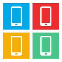 Smartphone Mobile Cellular Phone Modern Communication Vector