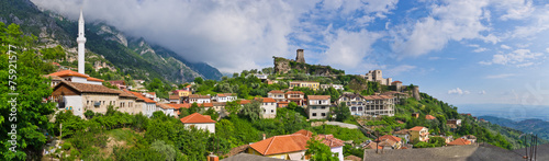 Scene with Kruja castle near Tirana, Albania - 75921577
