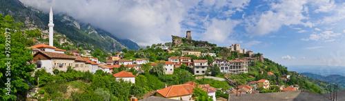 Foto op Canvas Kasteel Scene with Kruja castle near Tirana, Albania