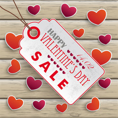 Valentinesday Price Sticker Wood