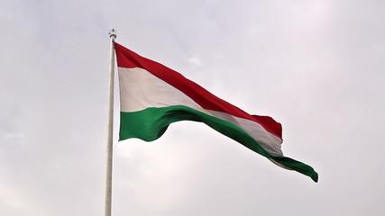 Tajikistan flag. Dushanbe, Tajikistan