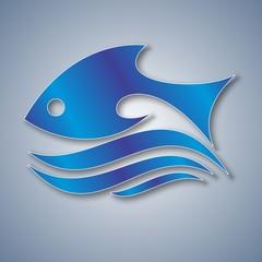 Рыбка в море