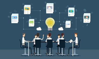 people business teamwork meeting and brainstorm