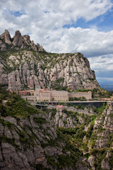 Montserrat Monastery and Mountains in Catalonia