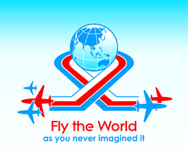 Fly the World modern aviation concept