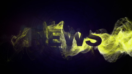 NEWS Gold Text and Particles, Background