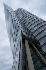 High modern buildings of glass and steel