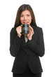 Stress - business woman stressed