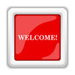canvas print picture - Welcome icon