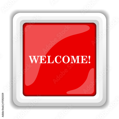 canvas print picture Welcome icon