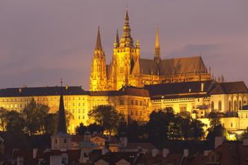 St. Vitus Cathedral at night, Prague, Czech Republic
