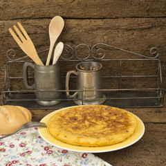 Omelette from spain called tortilla de patatas