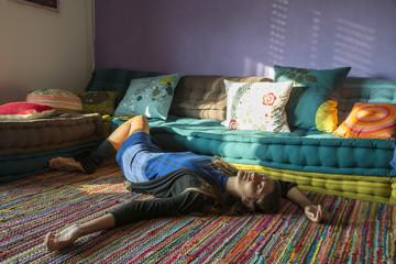 dormire sul tappeto