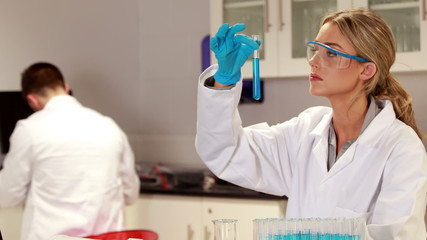 Scientist doing a chemical experiment