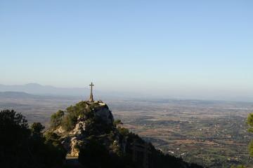beautiful cross on hill