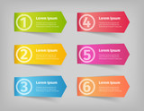 Fototapety numbering in colored vector 3d stickers