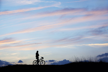 Mann Berge Mountainbike