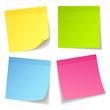 4 Stick Notes Color Mix