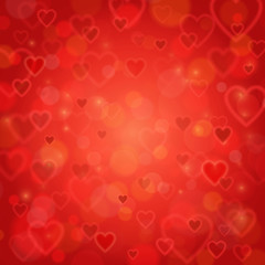 Valentine's Day and wedding romantic blurred heart background