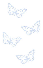 Butterflies criss-cross stitch embroidery