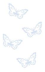 Butterflies criss-cross stitch embroidery