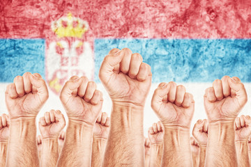 Serbia Labour movement, workers union strike