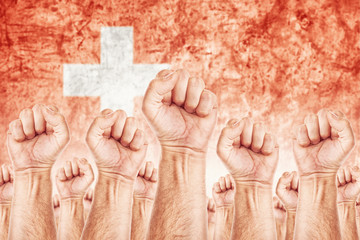 Switzerland Labour movement, workers union strike