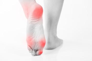 Female foot pain, Woman's problem