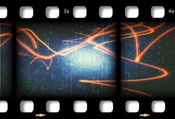 Filmstrip background frame