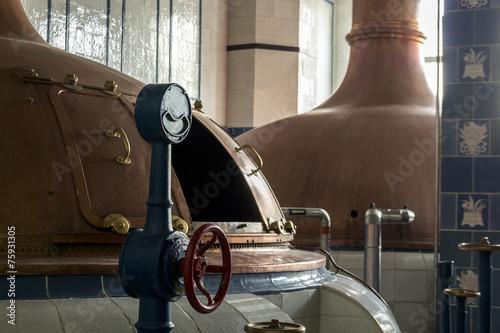 Fotobehang Industrial geb. Beer brewery. Traditional way of making a beer.