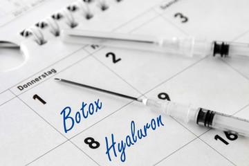 Botox und Hyaluron