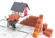Haus Grundstück Baustelle - Konzept