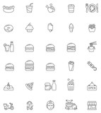 Fast food icon set - 75932101