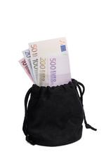Black bag with money