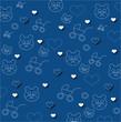 baby boy blue  print texture
