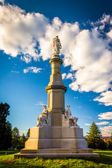 Monument at the National Cemetery in Gettysburg, Pennsylvania.