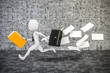 3d man businessman running, business metaphor