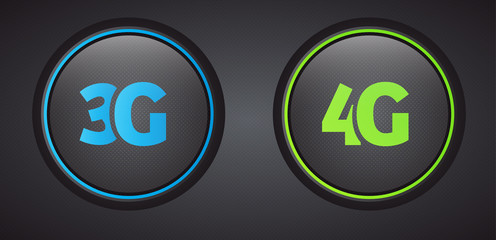 3G 4G icons