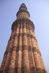 haut minaret Qutb Minar