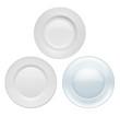 Plates on white background