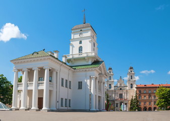 Town Hall on the square in Minsk