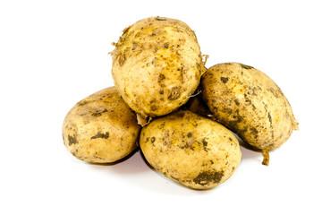 Frische Braune Kartoffeln