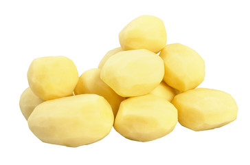 Fresh peeled potatoes
