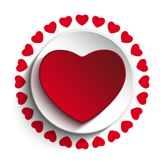 Valentine Day Love Heart Red Background